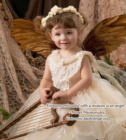 Everyone entrusted with a mission is an angel.   ~Moses Maimonides Visit www.AskAnAngel.org