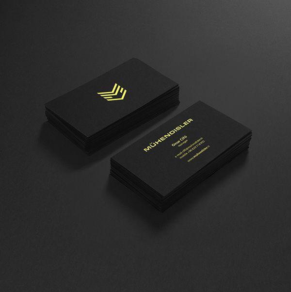 Mühendisler Constructions business cards by Sebastian Bednarek