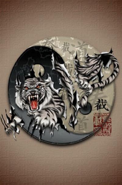 Tiger Yin Yang | Tiger's Quest | Pinterest | Textiles ...