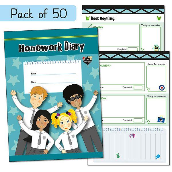 Pack of 50 Pedagogs A5 Homework Diaries