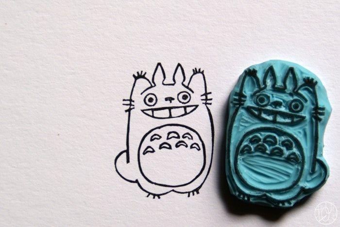 Défi Totoro ! - Des tampons Totoro - Dans ma petite roulotte