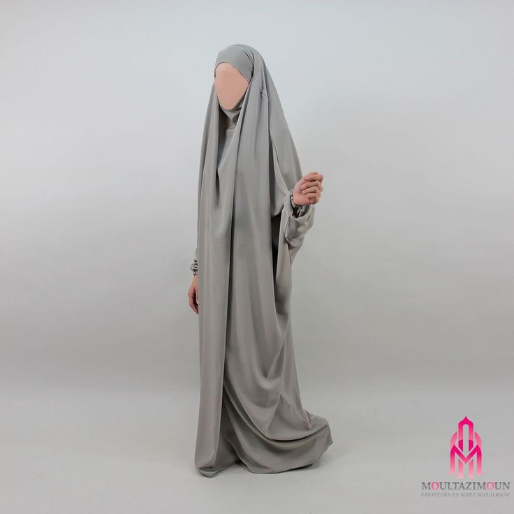 Jilbab Kawthar , Gris aluminium - Al Moultazimoun / #Overhead #khimar #jilbab #jilbab #best #abaya #modestfashion #modestwear #muslimwear #jilbabi #outfit #hijabi #hijabista #long #dress #mode #musulmane #clothing