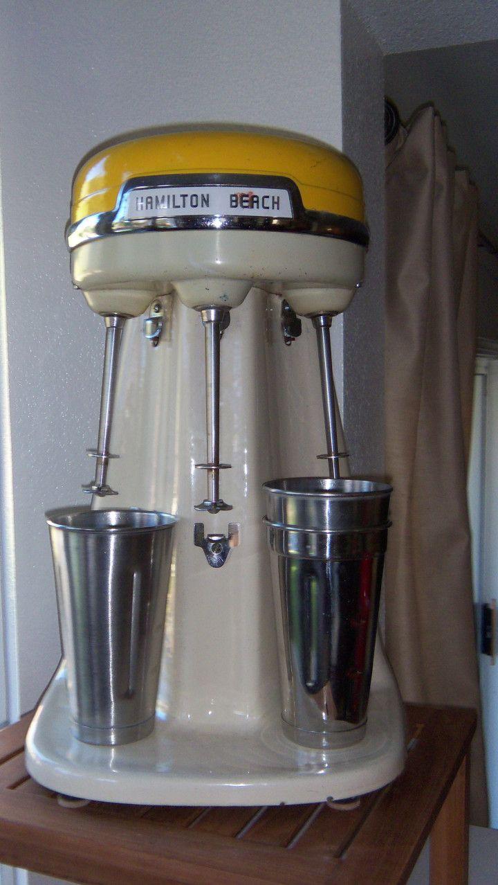 Classic triple-spindle Hamilton Beach Milkshake Machine