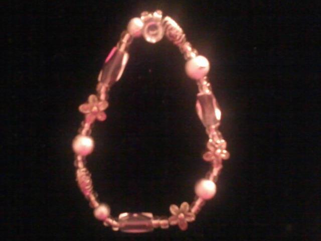 Sliver and flower bracelet I've made!