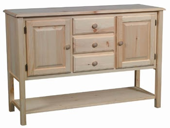 Pine Sideboard Provides Stylish And Convenient Storage For Dishes,  Silverware, And Table Linens. Unfinished Furniture StoreLog ...