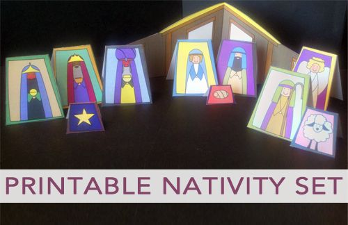 Free Printable Nativity Set from from Christmas Your Way!