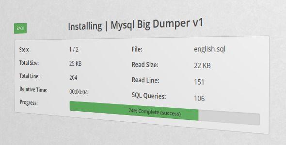 BigSQL - Mysql Big Dumper (Database Abstractions)