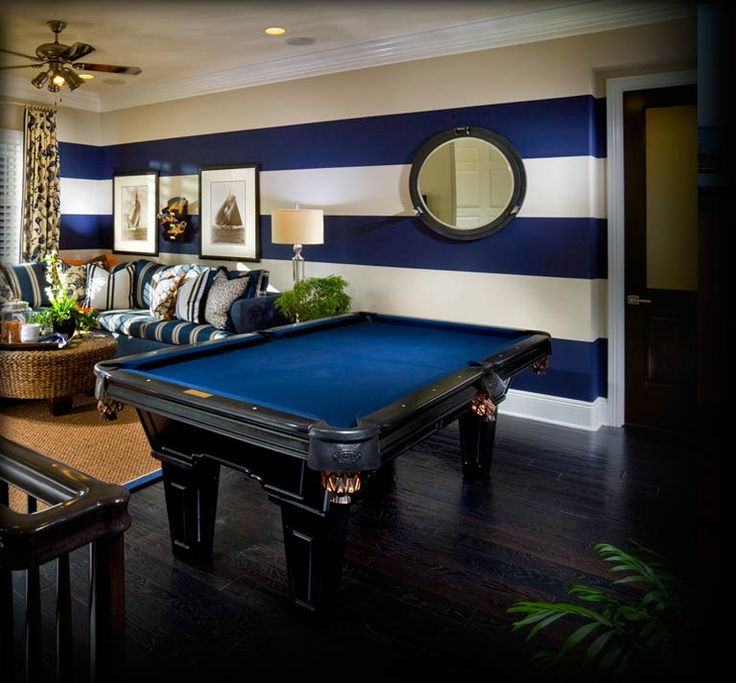 Pool room with a nautical theme is very moi #CasaDeCarson