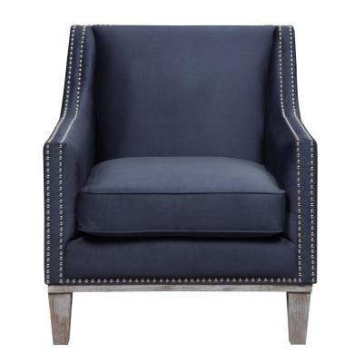 Best Element International Aster Navy Accent Chair Blue Blue 400 x 300