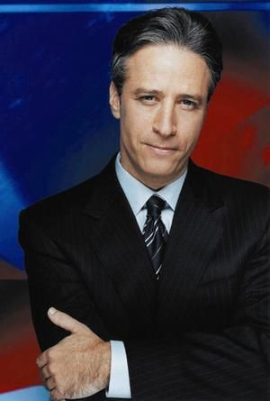 jon stewart - wish I could find a guy who makes me laugh like he does...and smart too :)