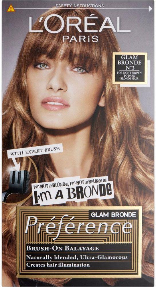L Oreal Paris Preference Glam Bronde No3 Light Brown To Dark Blonde Ebay Fashion Loreal Paris Loreal Brown Hair Balayage