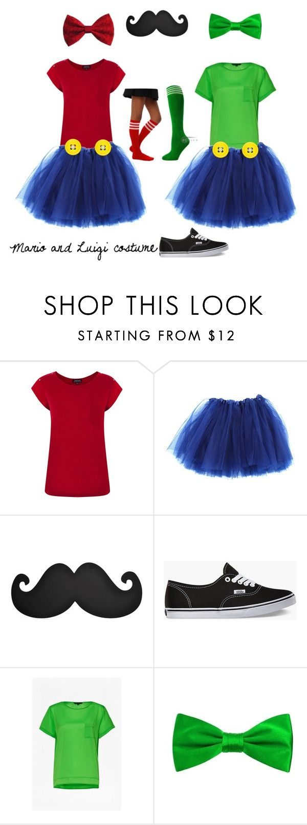 """Mario and Luigi costume"" by npd531 ❤ liked on Polyvore featuring Warehouse, Vans and French Connection"