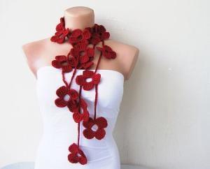 Crochet lariat scarfCrochet Flowers, Crochet Stuff, Lariat Scarf, Cute Ideas, Crafts Things, Pretty Flowers, Beautiful Flowers, Crochet Lariat, Flower Scarf
