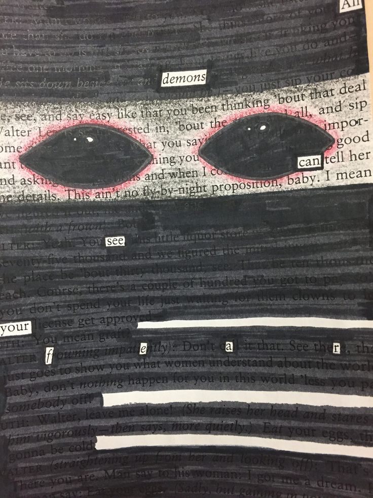 using blackout poetry to discover thematic subjects teaching bits pinterest blackout. Black Bedroom Furniture Sets. Home Design Ideas