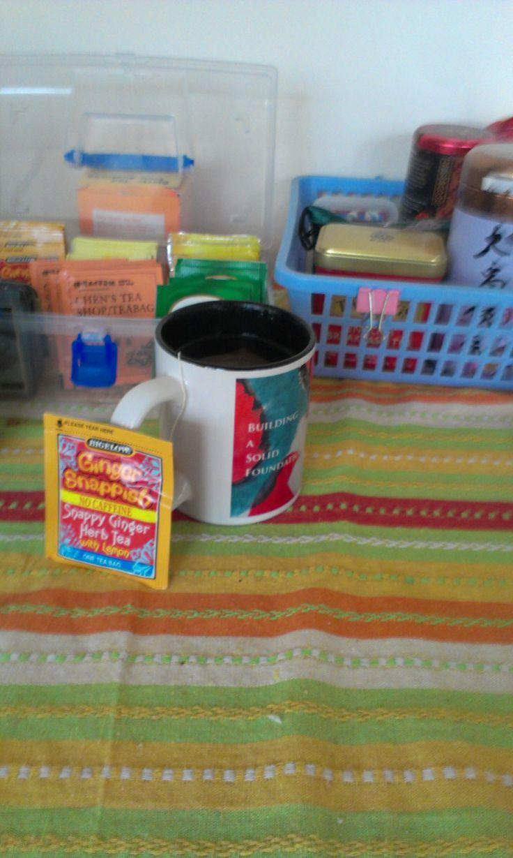 tea table by office