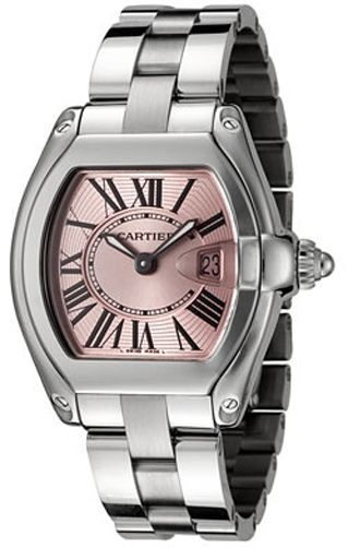 W62017V3 Cartier Roadster Ladies Quartz Pink Dial Watch