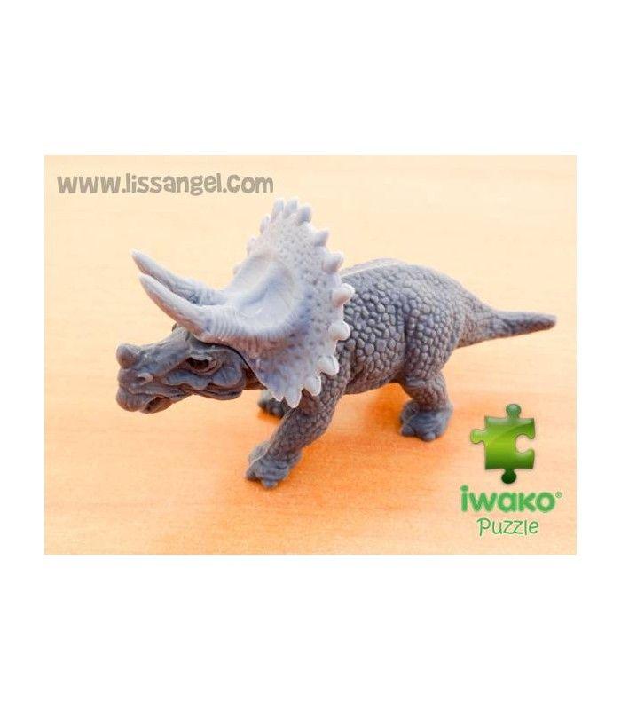 #IWAKO nos trae #gomas de borrar originales inspiradas en varias temáticas. Mira esta goma con forma de #dinosaurio #Triceratops, podrás desmontarlo porque es puzzle.