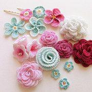Voir Crochet Flowers par goolgool sur Etsy