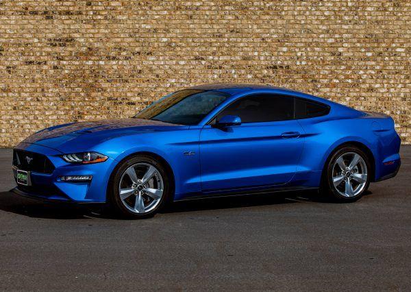 Ford Mustang Blue 2 Door Fully Loaded In 2020 Ford Mustang Mustang Luxury Car Rental
