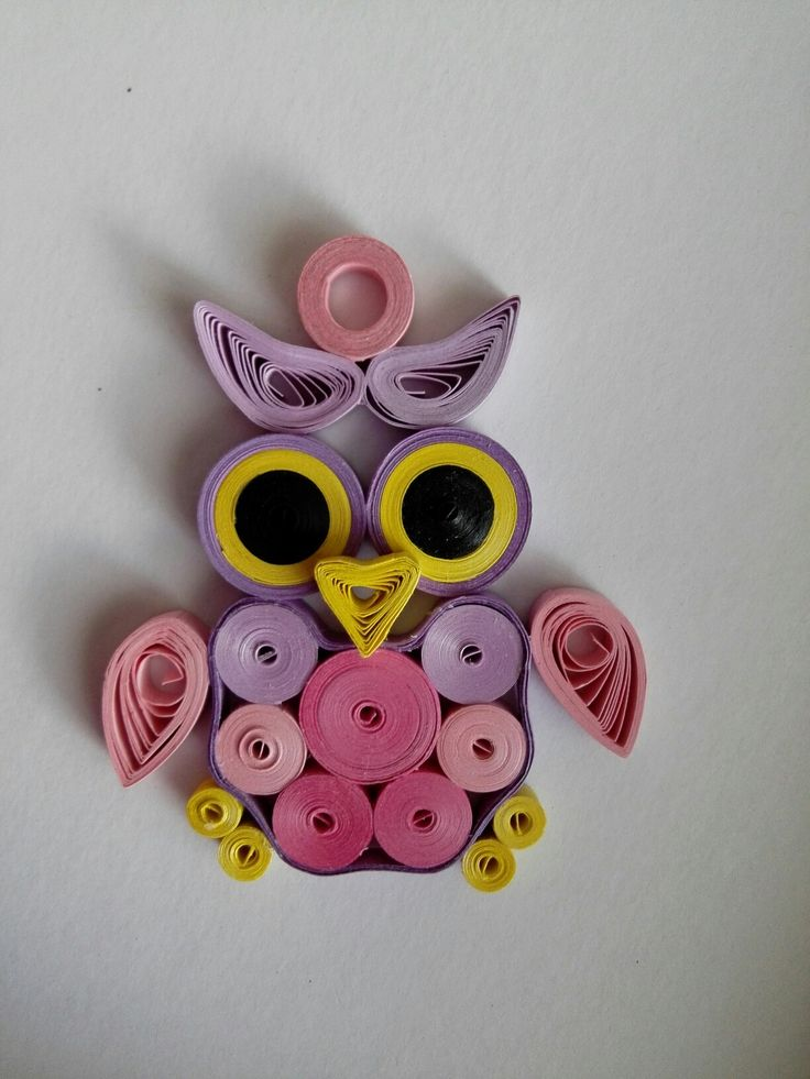 Quilling - sova