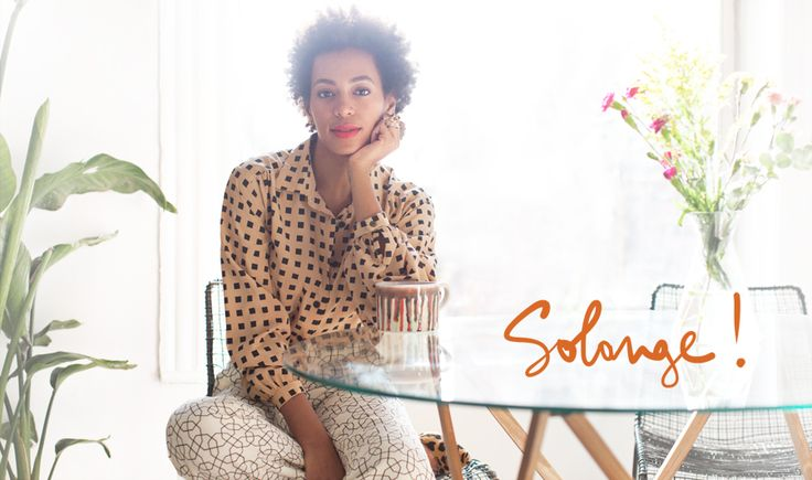 Solange Knowles by Garance Doré  Loving her look, the touches of red (lipstick & flowers), the light