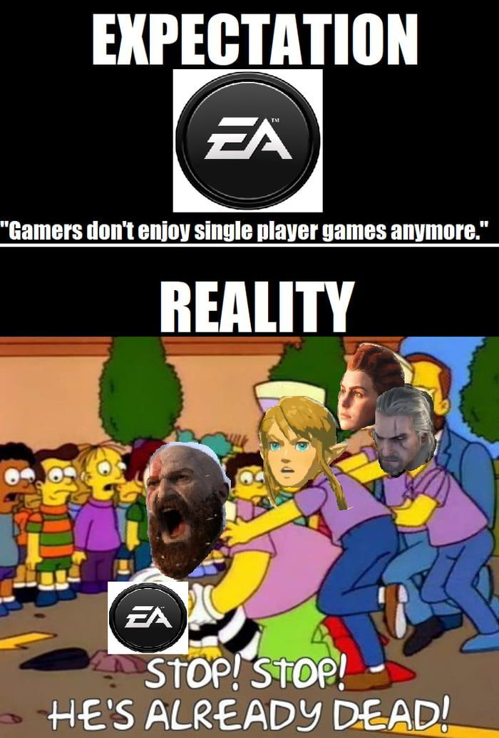 Wonder How Many More Times Ea Will Shoot Themselves In The Foot Videogamememes Funny Gaming Memes Funny Memes Funny Games