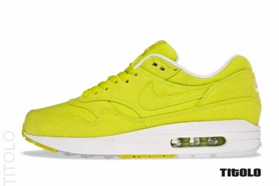 "Nike Air Max 1 ""Cyber Twill"" - Did I mention I love bright shoes? Can't get much brighter than these."