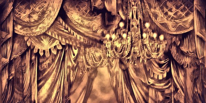 #mural print Theater curtain by http://miloslavdesign.com