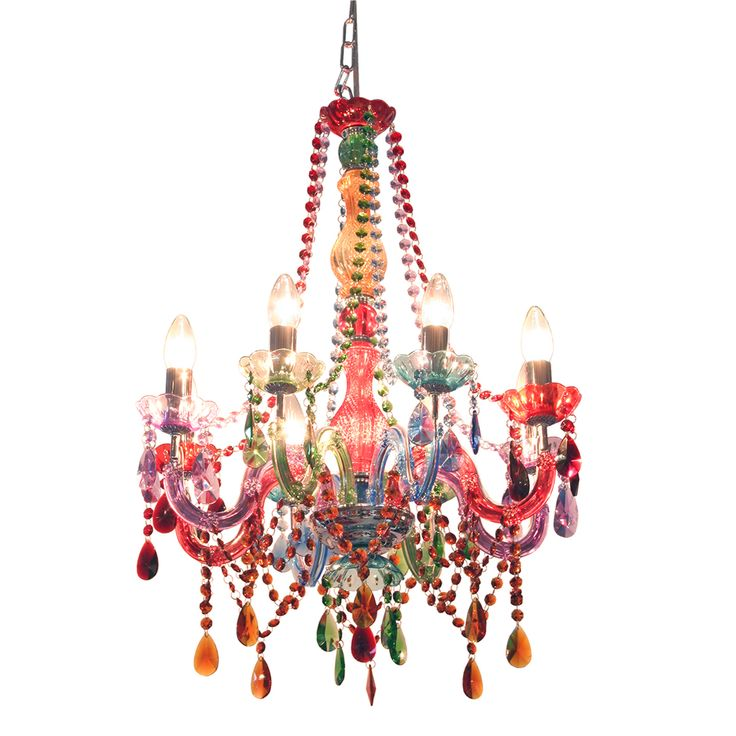Large Multi Coloured Chandelier From Out There Interiors
