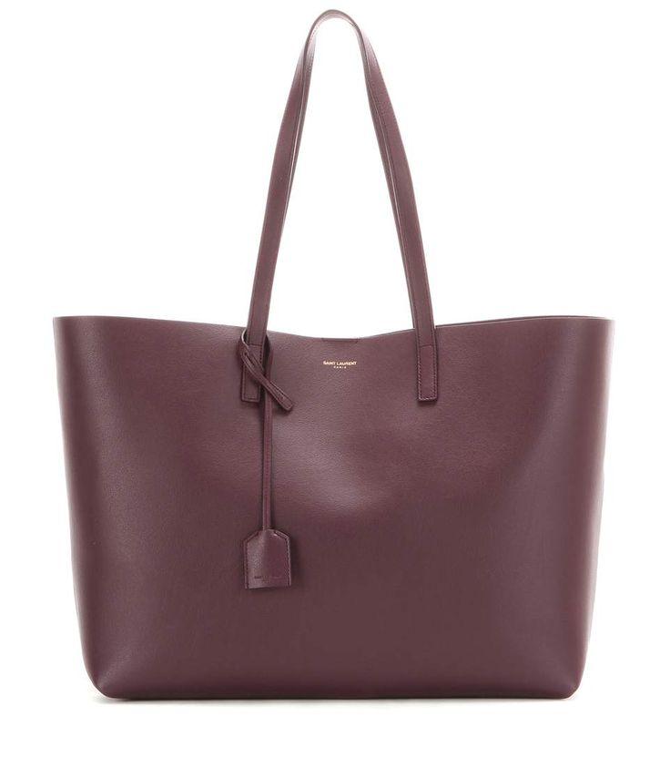 Saint Laurent - Burgundy leather shopper