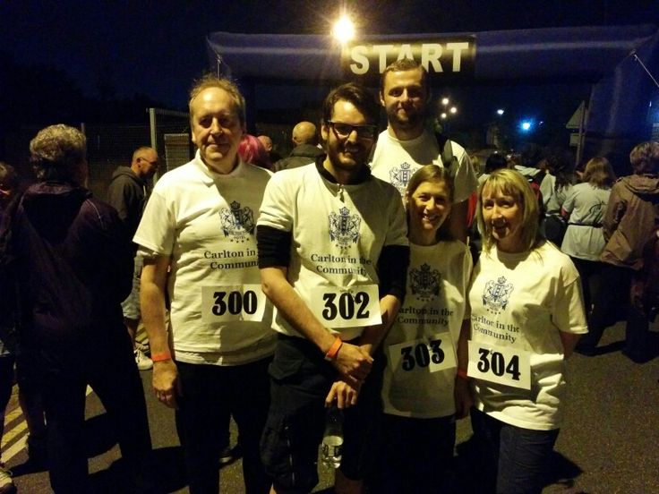 Team Carlton at Rotherham Hospice's Midnight Memory Walk 2015