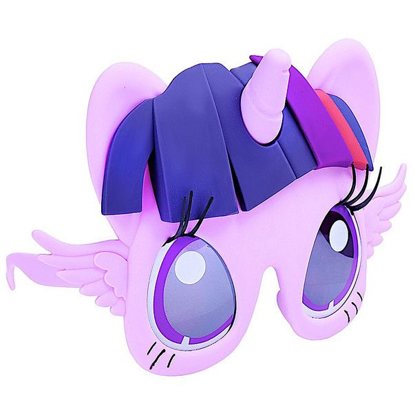 Sun-Staches Purple Twilight Sparkle Sun-Staches ($7.99) ❤ liked on Polyvore featuring accessories, eyewear and sunglasses