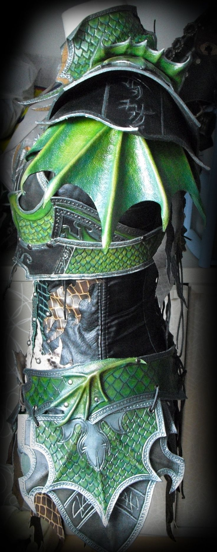 Wicked green dragon armor.