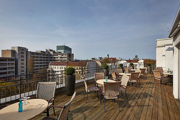 Terrasse vom Hyperion Hotel Berlin