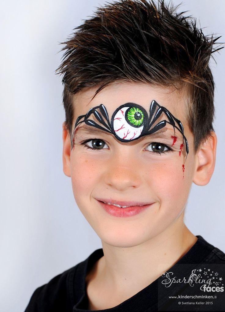 wwwkinderschminkenli kinderschminken kinderschminken vorlagen schminkfarben kaufen kinderschminken kurse spider facefacepaint ideashalloween - Easy Face Painting Halloween