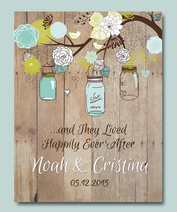 Couples Gift Ideas For Home: 1st Anniversary Gift, Personalized Wedding Gift, Mason Jar