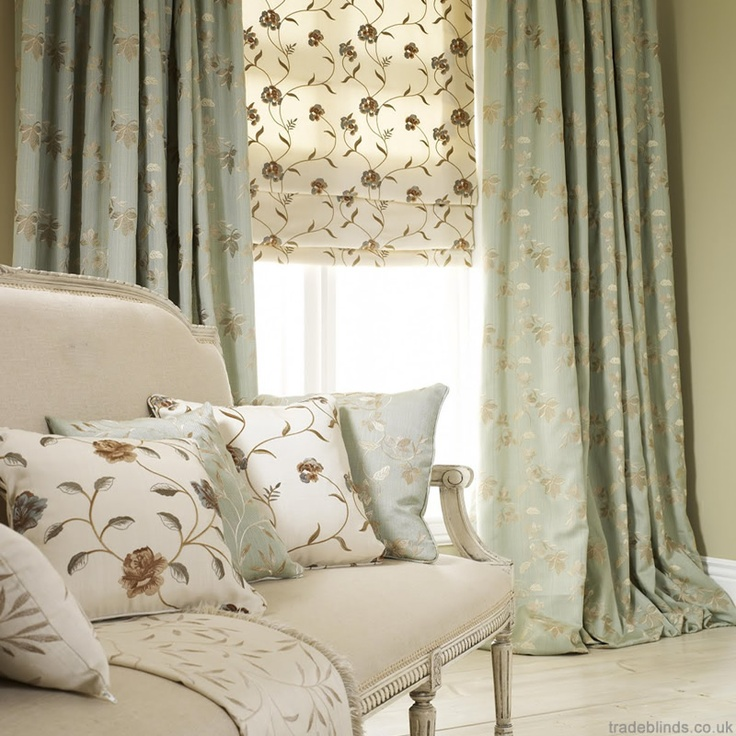 Luxurious Embroidered Curtains And Roman Blinds