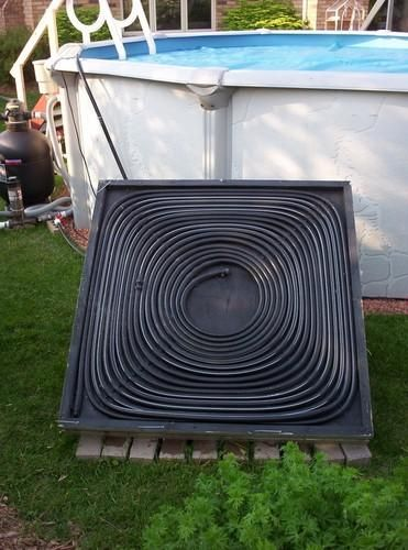 """Let's see: 100' of 1/2"""" black tubing ($25), easily dismantled pvc pipe frame with wooden or metal hub (high estimate of $25), two large buckets (one source, one shower supply), and a submersible pond pump ($25-45)-- solar shower anyone?"""