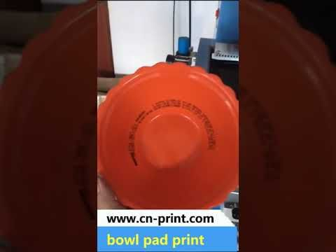 big size plate bowl pad printing machine | big size plate