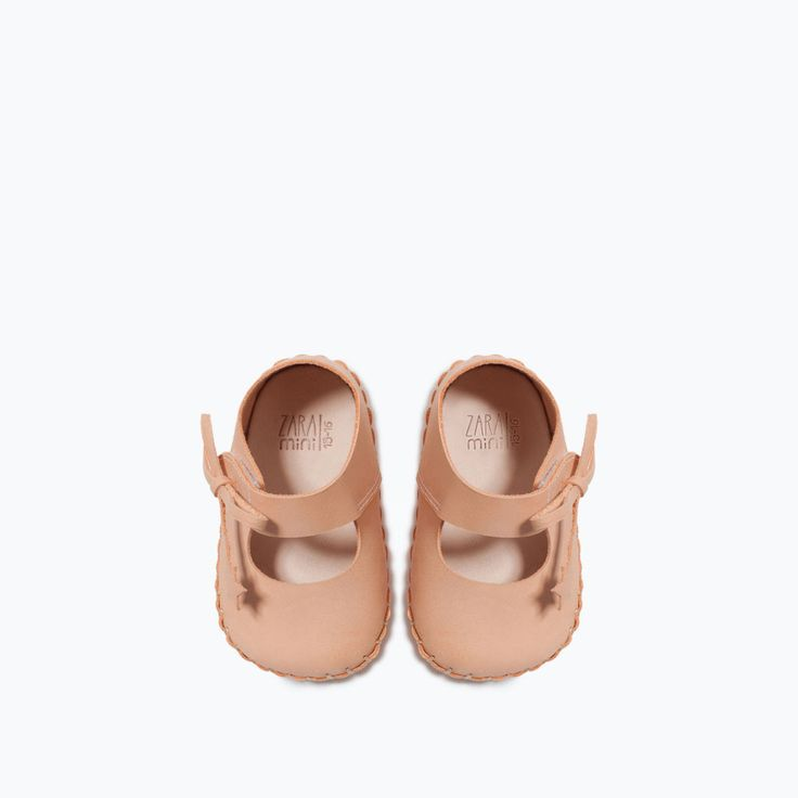 LEATHER BALLERINA Shoes MINI ZARA United States