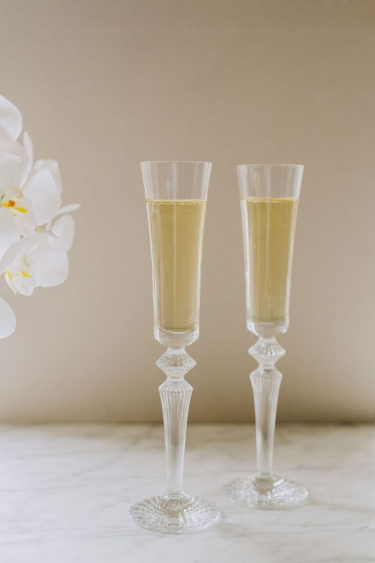Baccarat Mille Nuits Clear Champagne Flutes