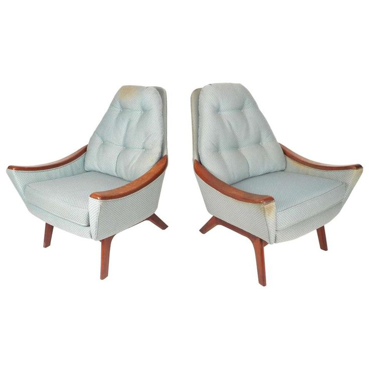 Pair of Mid-Century Modern Adrian Pearsall Lounge Chairs 1