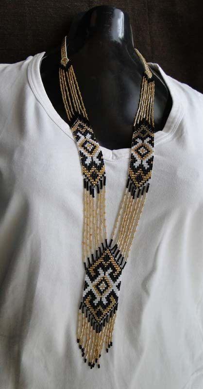 beadwork necklace.  Traditional Ukrainian by GalerijazaHoryzontem, zł108.00