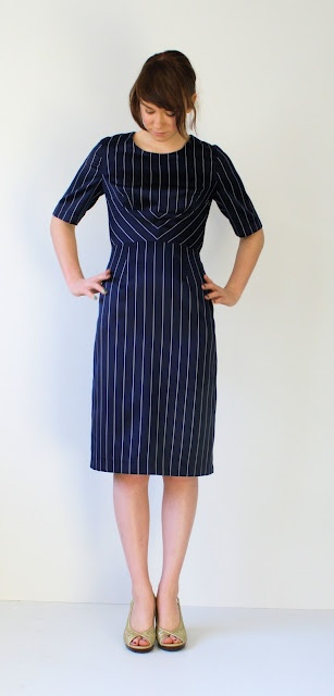 in love with the stripes on this dress