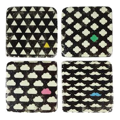 Lonely Colour Coasters set of 4