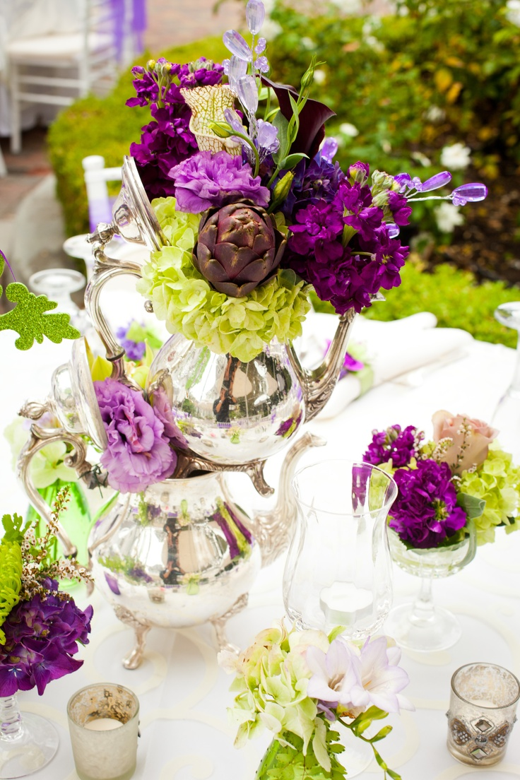 Best silver teapot flower images on pinterest