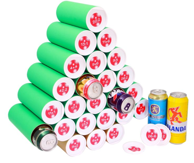 ....Use pringles chip cans to form the tree to hold the bottles of beer.