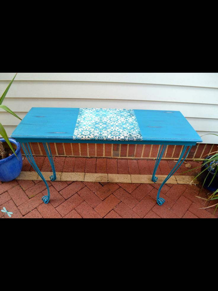 Upcycled Hall Table