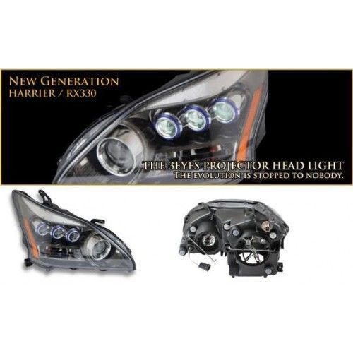 JDM LEXUS RX330 RX350 RX400h HARRIER HEAD LAMP 3 EYES B