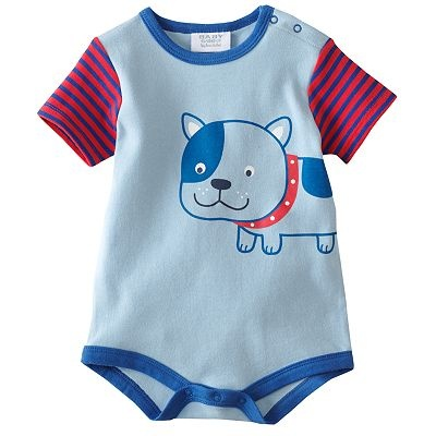 Baby by Bon Bebe Striped Dog Creeper - Baby: Baby 5 99,  T-Shirt, Stripes Dogs, Bon Bebe, Dogs Things, Baby Clothing, Baby 599, Bebe Stripes, Dogs Creepers